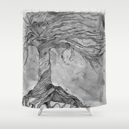 Tree of Life (Grey Scale) Shower Curtain