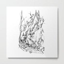 Forest Ferns : Mount Baker Metal Print