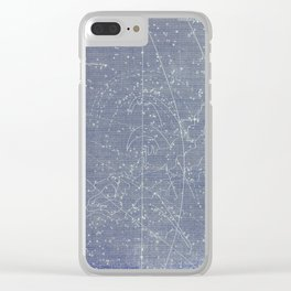 Antique Zodiac Constellation Milky Way Pegasus Print, 1of 2 Clear iPhone Case