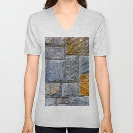 stones-wall Unisex V-Neck