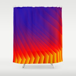 Color Fan Shower Curtain