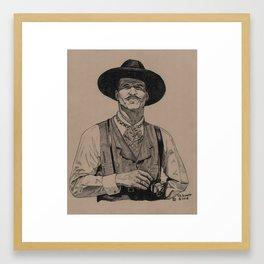 I'm yer Huckleberry Framed Art Print