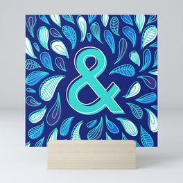 Blue type & Mini Art Print