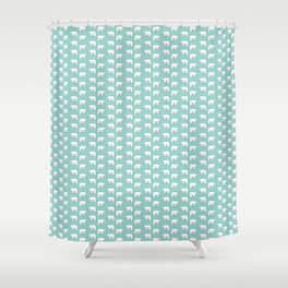 Mint Polar Bears Shower Curtain