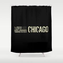 Black Flag: Chicago Shower Curtain
