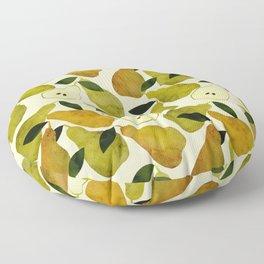 mediterranean pears watercolor Floor Pillow