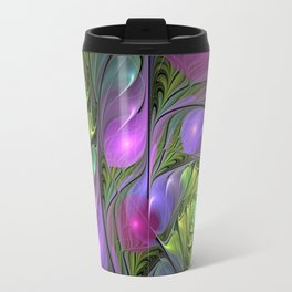 Good Mood, Abstract Colorful Fractal Art Travel Mug