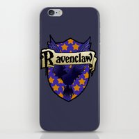 ravenclaw iPhone & iPod Skins featuring Ravenclaw Crest by AriesNamarie