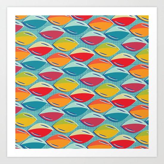 Abstract Shape Repeat Art Print