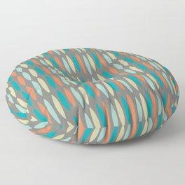 Contemporary Mid-Century Modern Geometric Pattern Floor Pillow