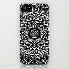 Detailed Black and White Mandala iPhone Case