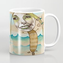 Platypus Girl with People Hairclips Coffee Mug