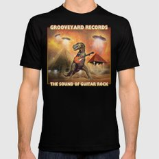 Grooveyard Records - The Sound Of Guitar Rock Black 2X-LARGE Mens Fitted Tee