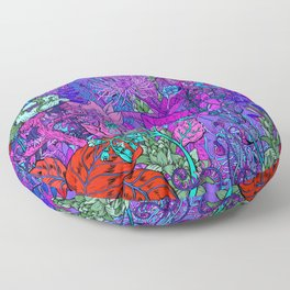 Electric Garden Floor Pillow