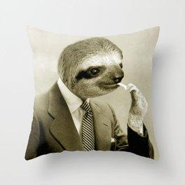 Gentleman Sloth 9# Throw Pillow