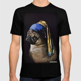 Pug with a Pearl Earring T-shirt