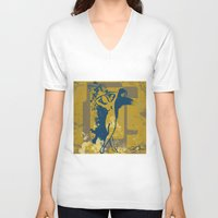 the strokes V-neck T-shirts featuring Foot Strokes by Ron Jones The Artist