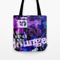typo Tote Bags featuring Lounge Typo by LebensART
