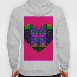 PINK AND GREEN HEART Hoody