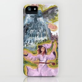 angel and witch iPhone Case
