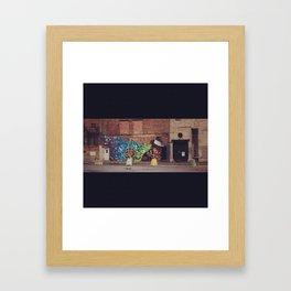 Montreal Graphiti Framed Art Print