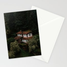 Mysterious Forest House – Landscape Photography Stationery Cards