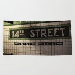 14th Street Station Beach Towel