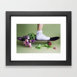SOILANDSOLE SNEAKER AND SKATEBOARD Framed Art Print