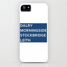 Edinburgh Neighbourhoods iPhone Case