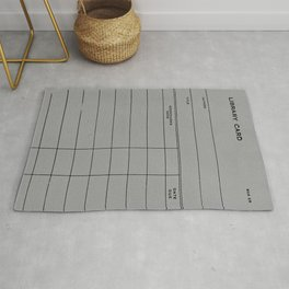 Library Card BSS 28 Gray Rug
