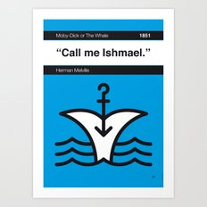 No001 MY MOBY DICK Book Icon poster Art Print