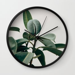 RUBBER TREE PLANT Wall Clock