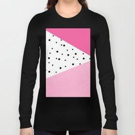 Black dots & pink leader Long Sleeve T-shirt