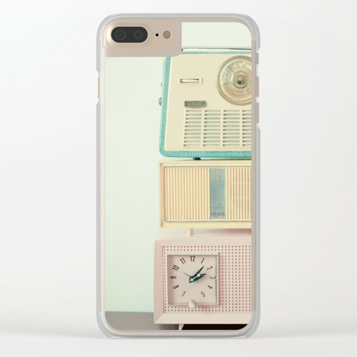 Radio Stations Clear iPhone Case