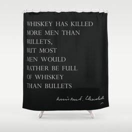 Whiskey & Bullets Shower Curtain