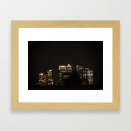 Bank at Night Framed Art Print
