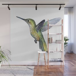 Hummingbird Watercolor Bird Animal Wall Mural