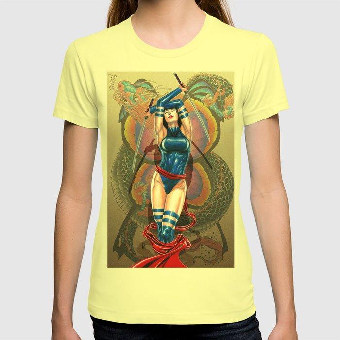 e53a8f7c9941 Psylocke  Deadly Beautiful T-shirt by peejaycatacutan