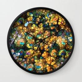 Peacock Rainbow Glitter Wall Clock