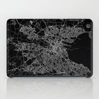 dublin iPad Cases featuring Dublin map by Line Line Lines