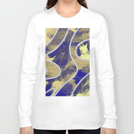 Textured Segments - Abstract, textured painting Long Sleeve T-shirt