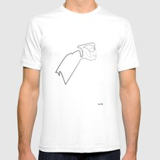One line Rocketeer Mens Fitted Tee White SMALL