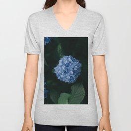 Beautiful Blue Hydrangea Unisex V-Neck
