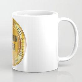 Franklin Pierce Gold Metal Stamp Coffee Mug