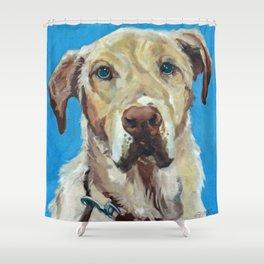 Golden Labrador retriever Shower Curtain