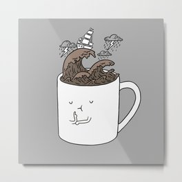 Brainstorming Coffee Mug Metal Print