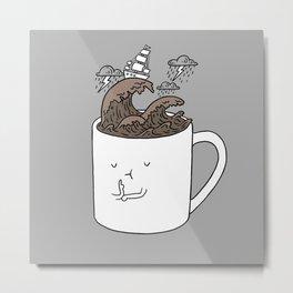 Brainstorming Coffee Mug Metal Print