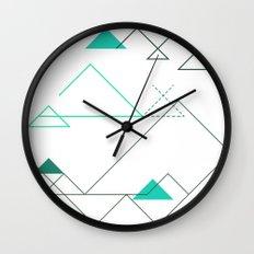 Tree Angle Green Wall Clock