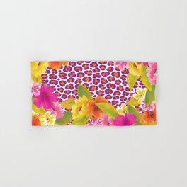 Floral Leopard  Hand & Bath Towel