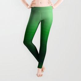 Emerald Green Stripe Design Leggings